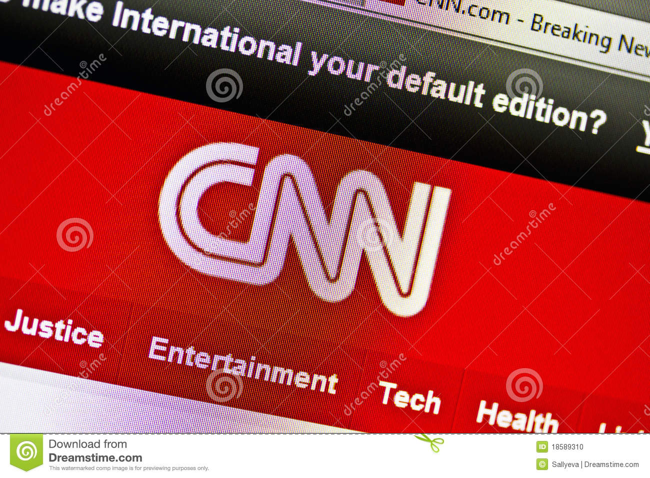 CNN website editorial image  Image of network, icon