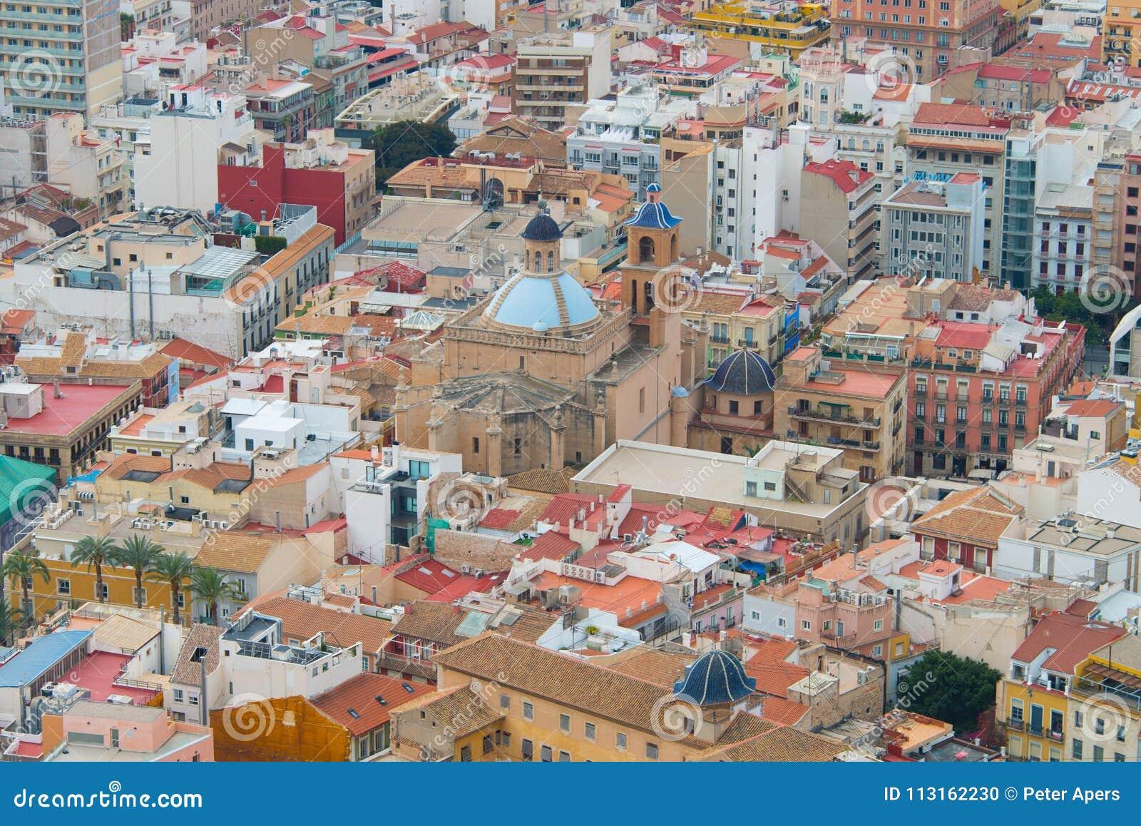 Center of Alicante in Spain