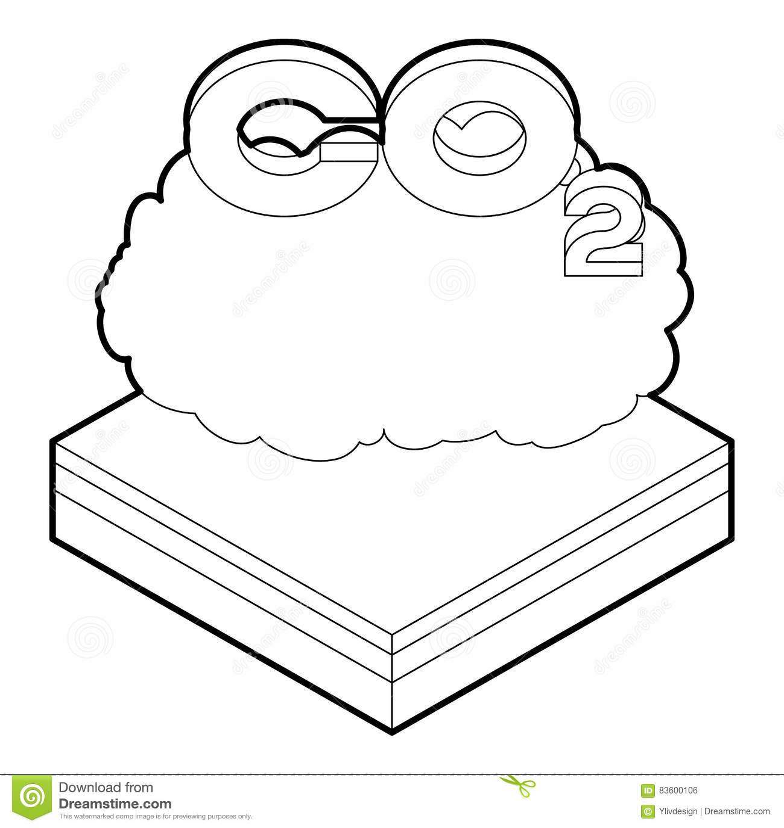 co2 emission line icon  vector illustration