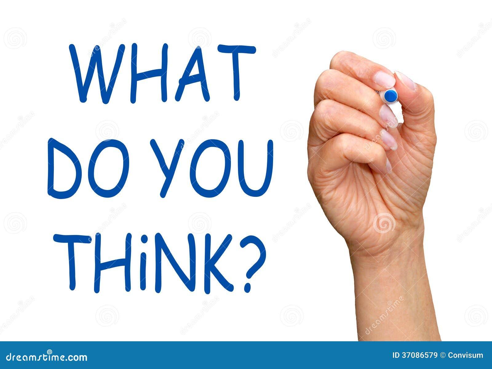 Download Co myśleć ty? obraz stock. Obraz złożonej z markiery - 37086579