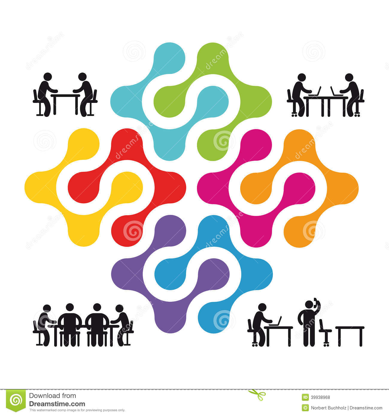 Cooperation And Partnership Illustration Stock Vector - Image ...