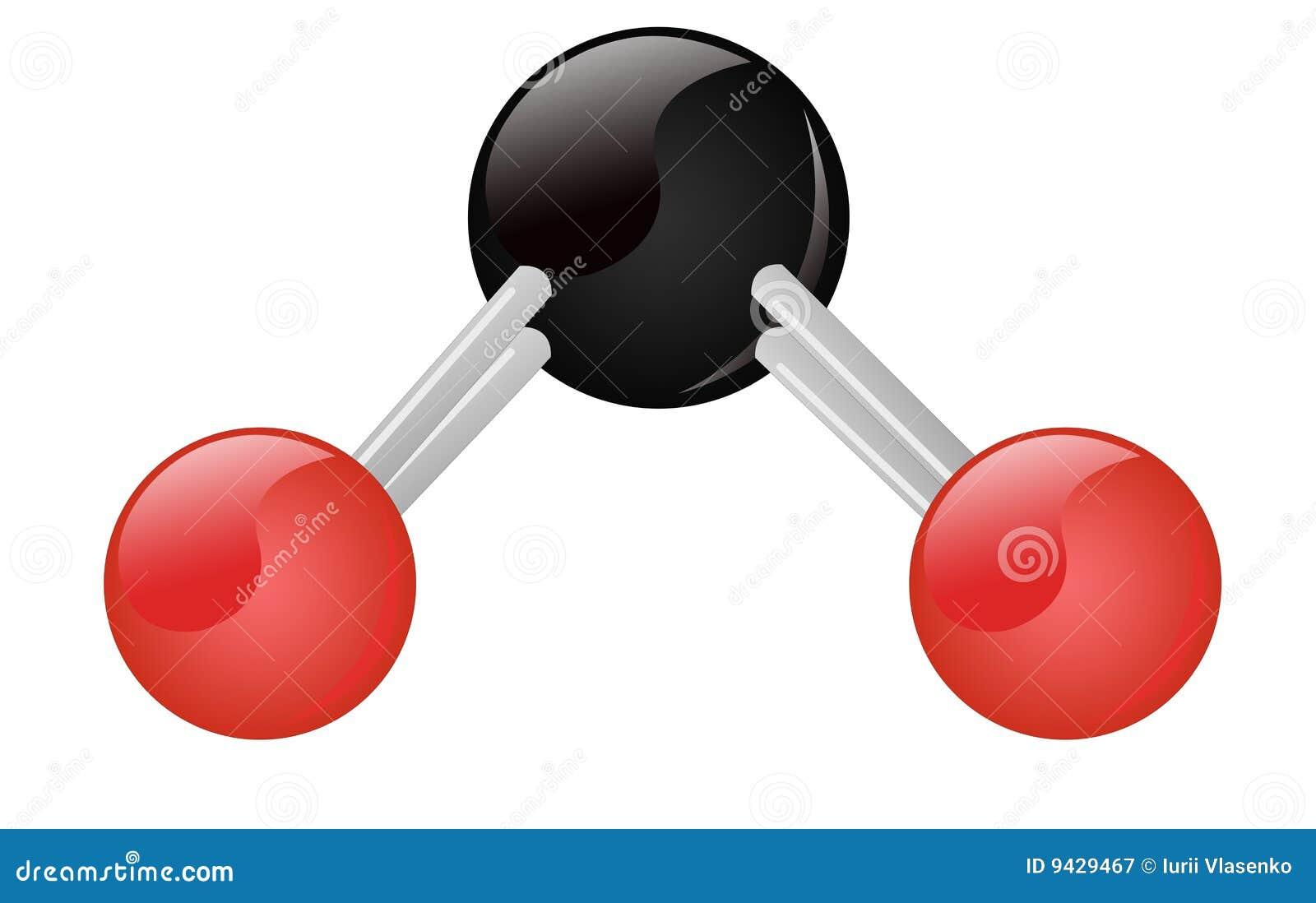 co2 carbon dioxide molecule stock illustration illustration of