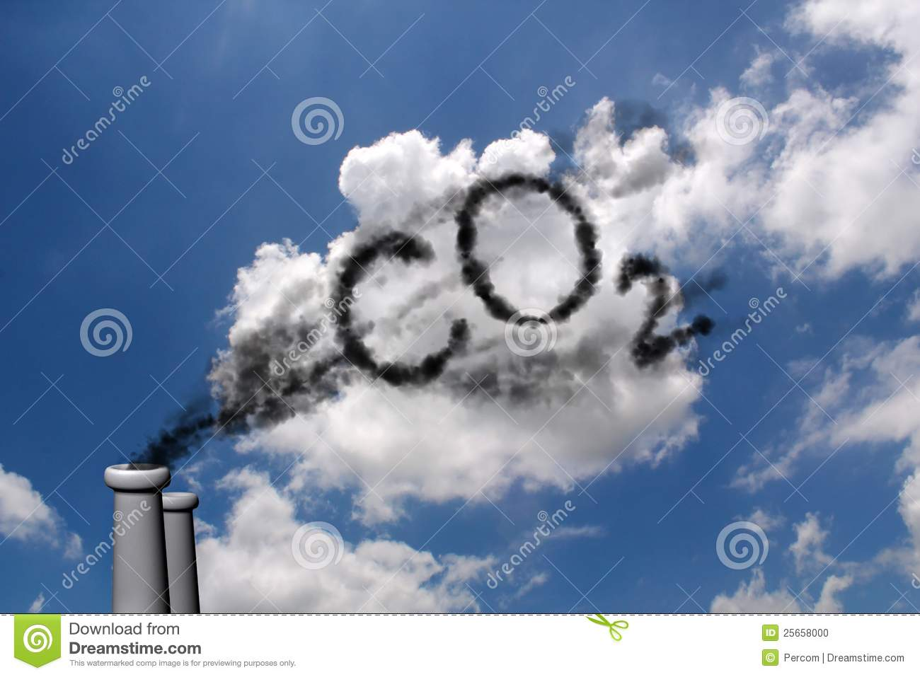 co2 pollution stock photo