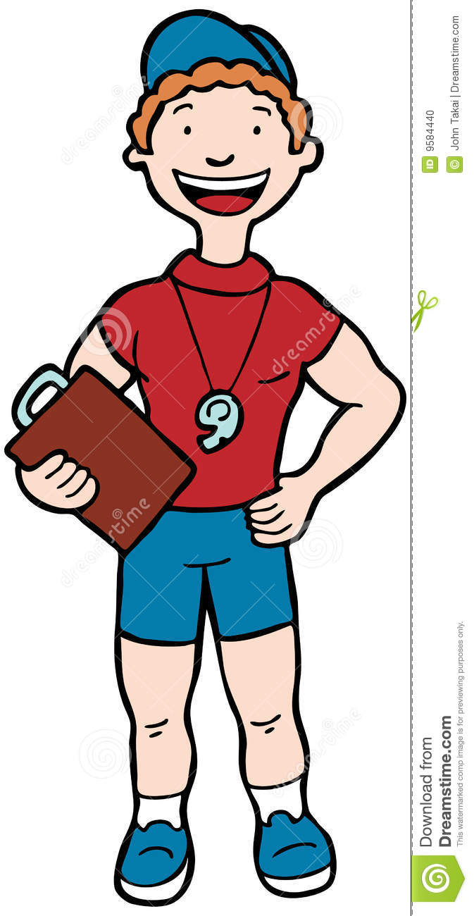 Cartoon image of a professional coach / trainer.