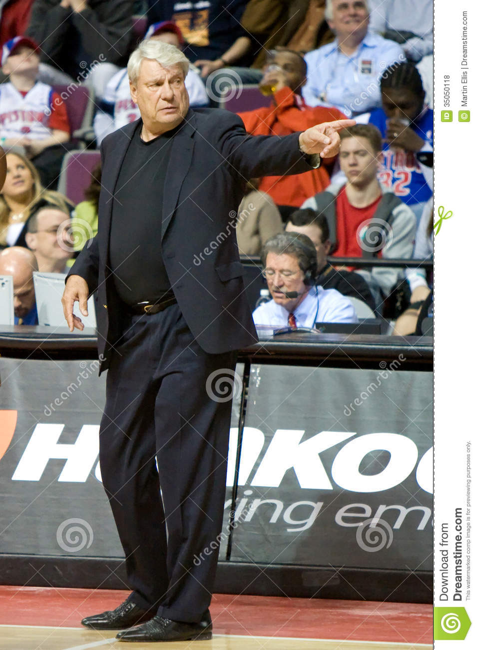 Coach Don Nelson The Golden State Warriors Editorial Stock