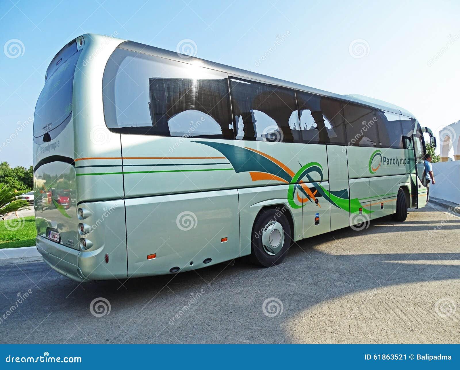 Coach Neoplan Tourliner In Psalidi / Kos (Greece) Editorial