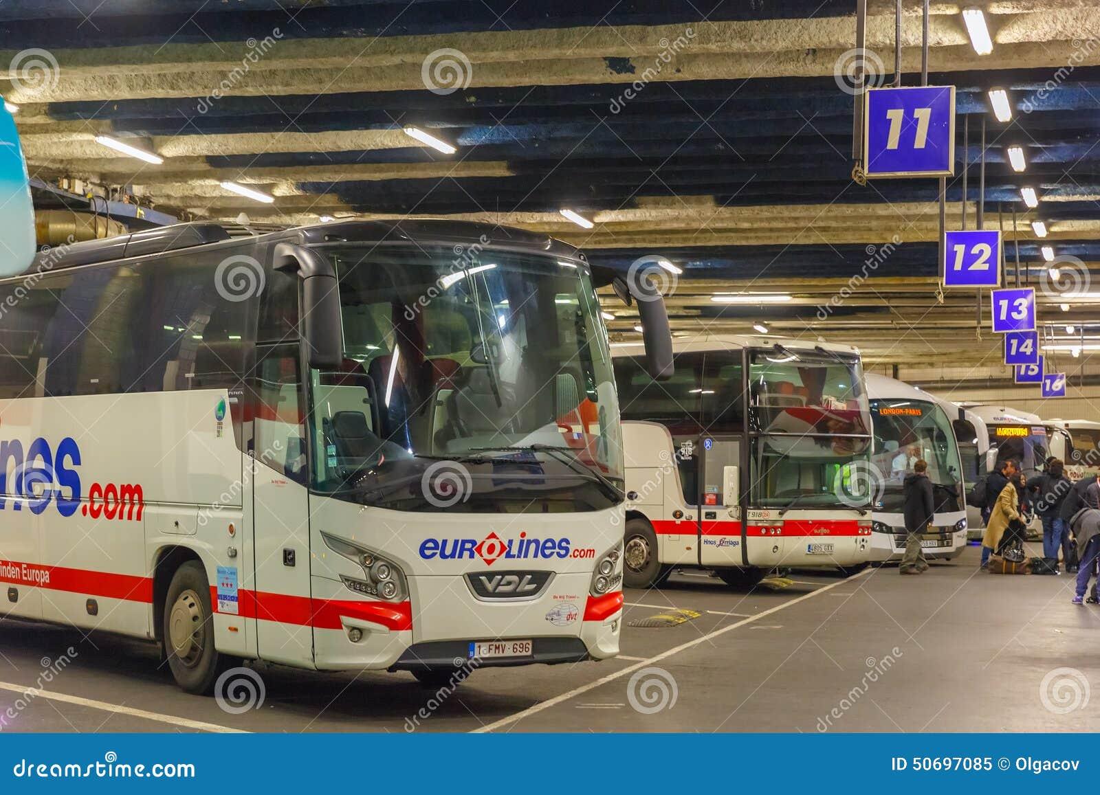coach station eurolines paris gallieni porte editorial image image 50697085. Black Bedroom Furniture Sets. Home Design Ideas