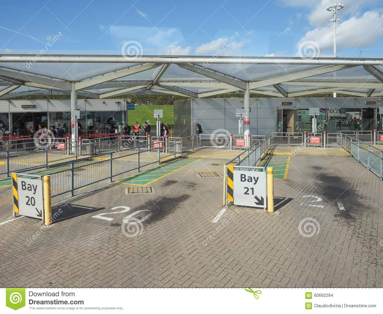 Stansted Airport Coach Station Map Coach Station in Stansted editorial stock image. Image of 2015