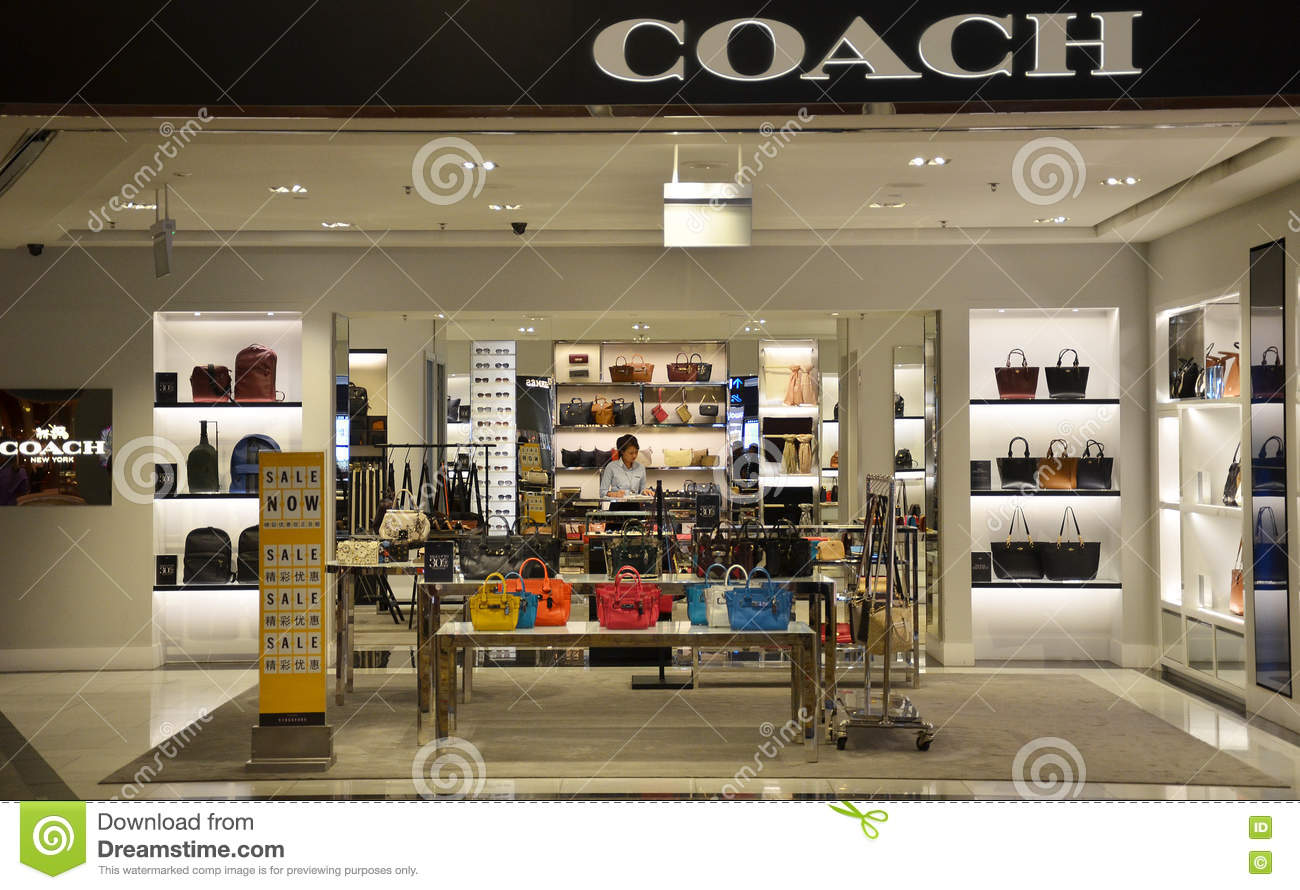 coach apparel outlet 6dk4  Coach store in Changi Airport, Singapore Editorial Stock Image