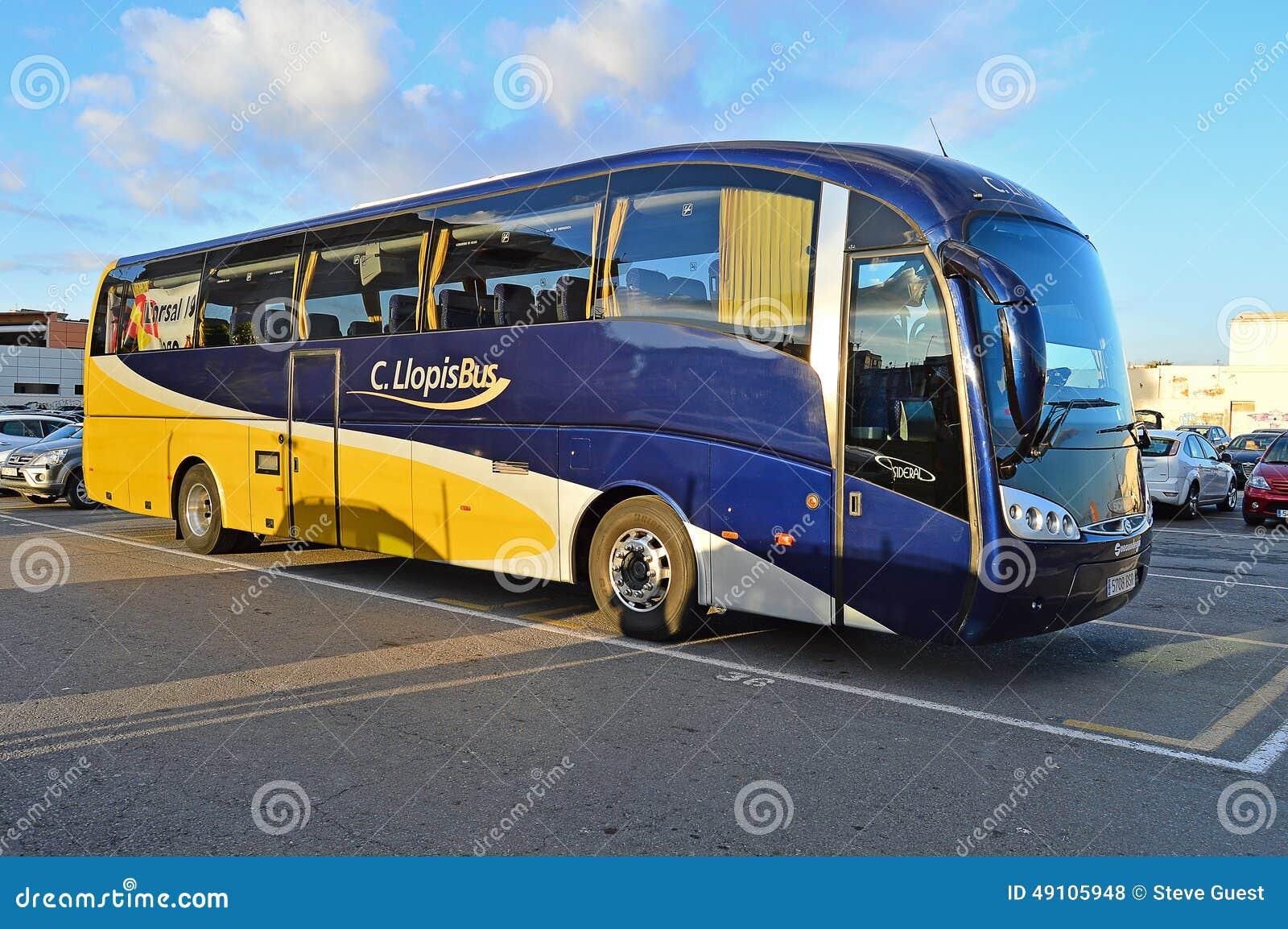 Coach Waiting For Marathon Runners Luxury Bus Transport