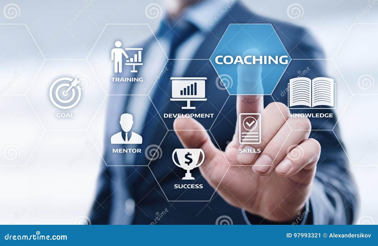 Coaching Mentoring Education Business Training Development E-learning Concept