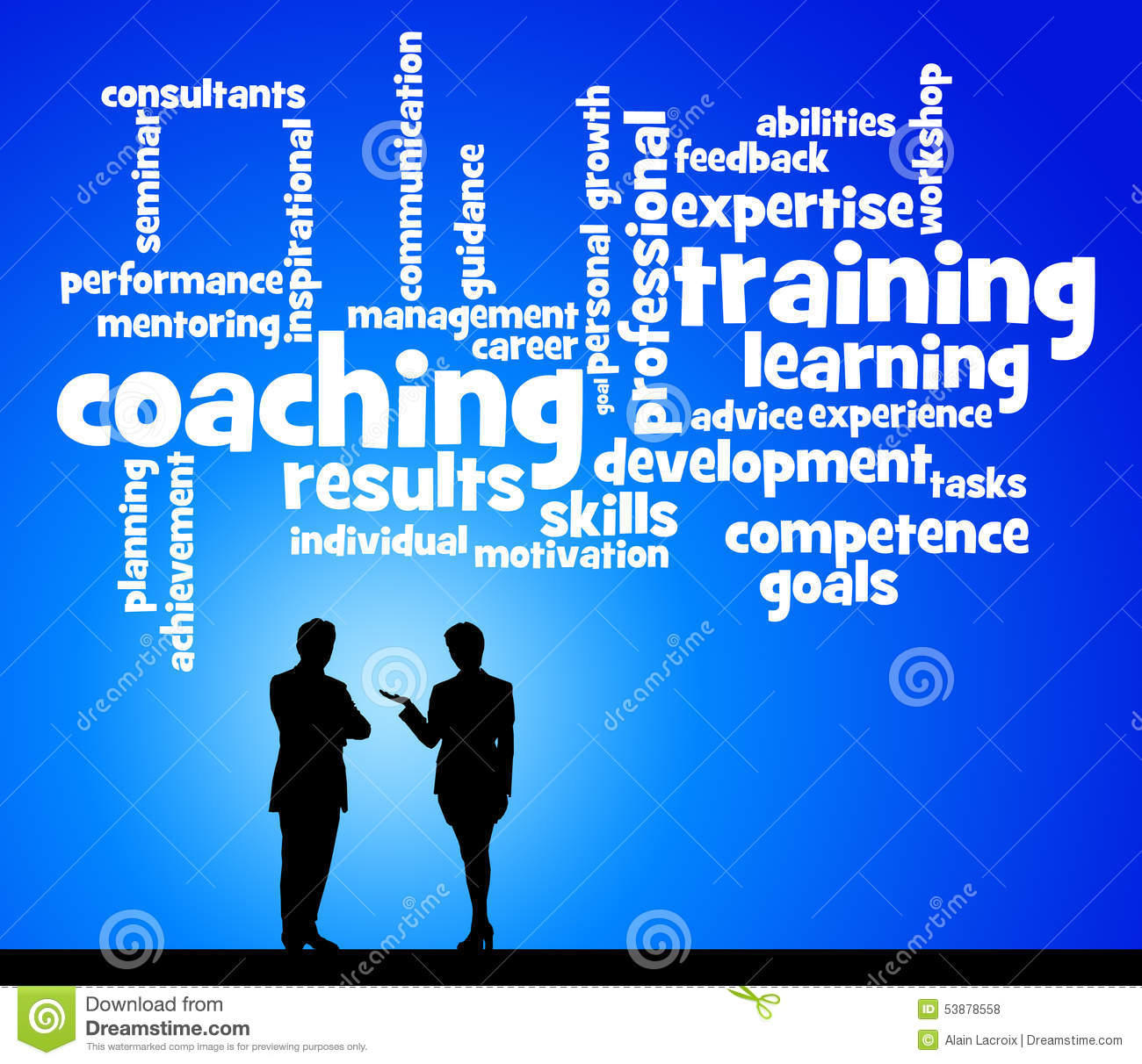 coaching and training stock illustration
