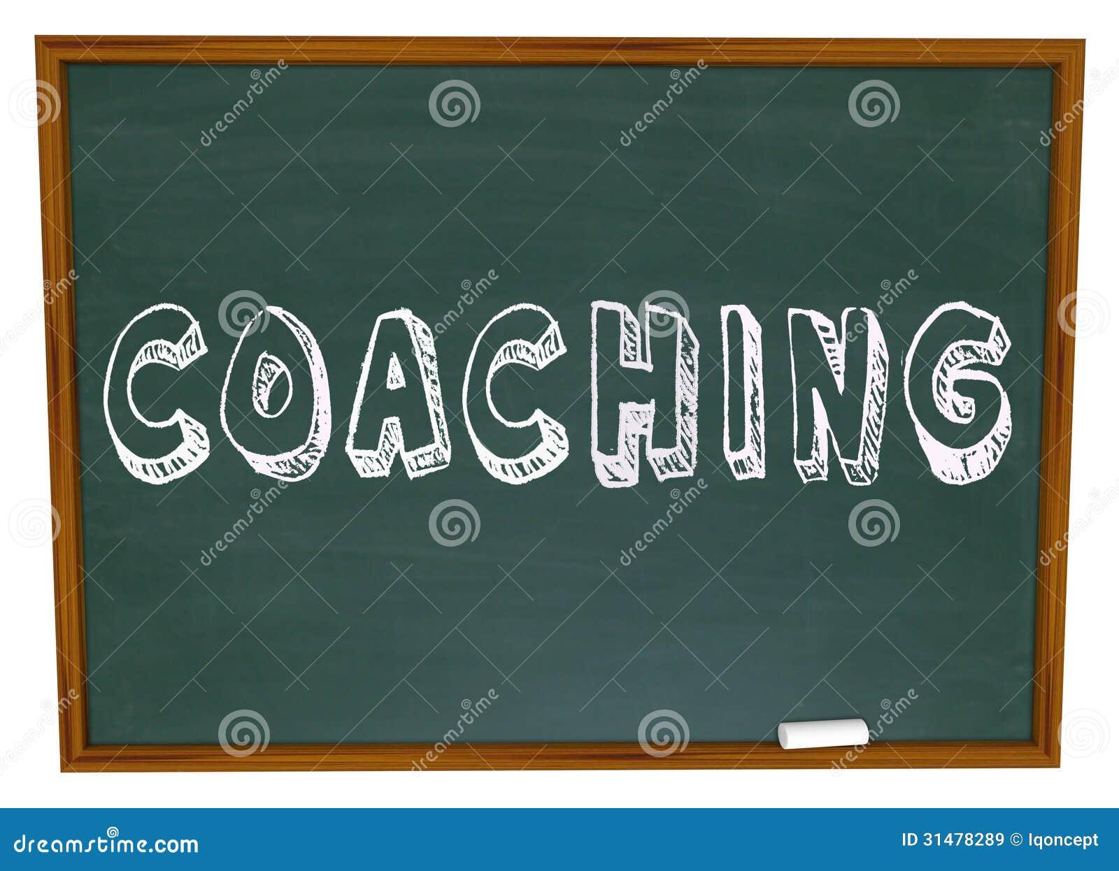 Coaching Word Chalkboard Teaching Learning Sports ...