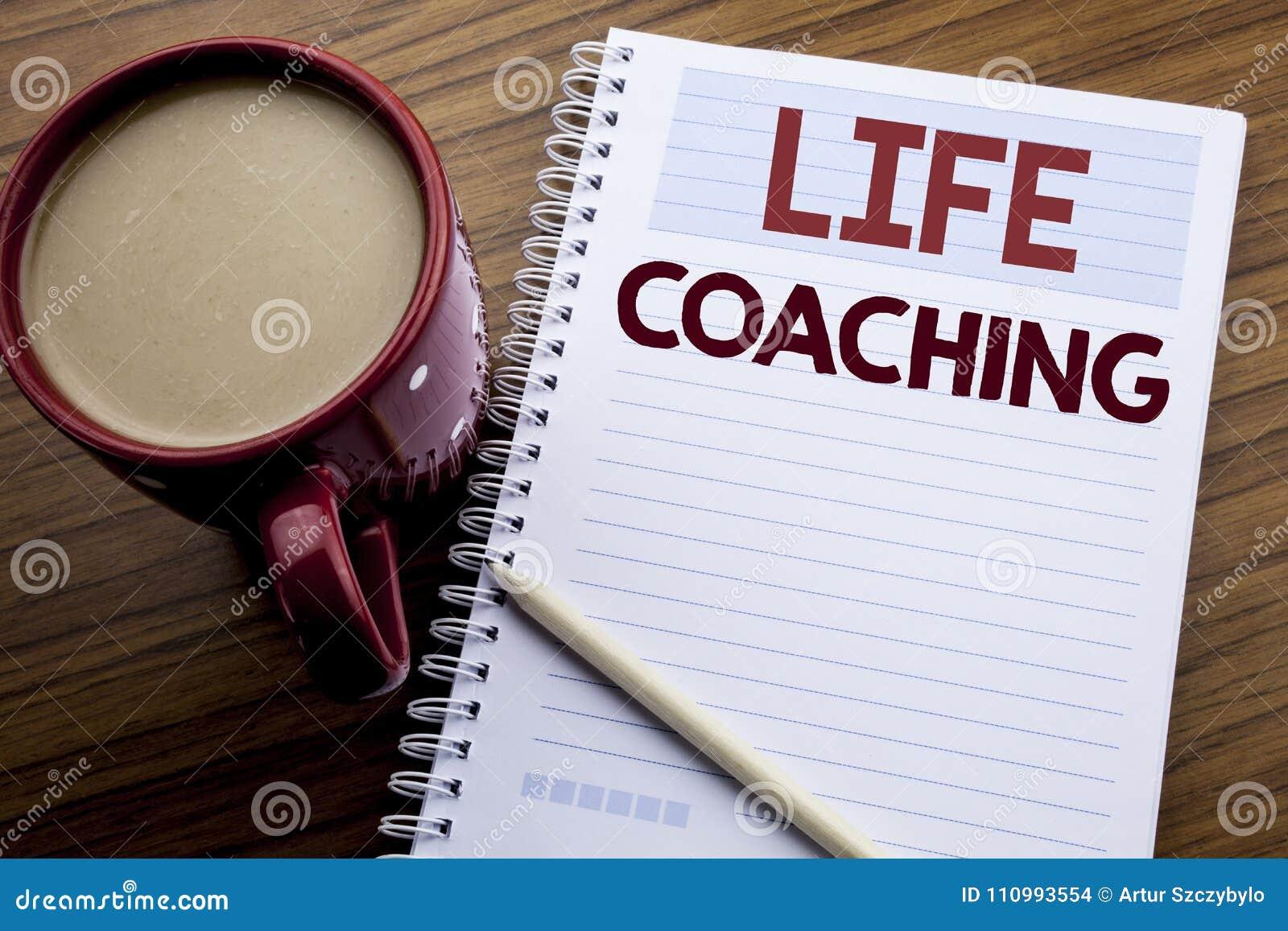 Coachning för liv för visning för inspiration för överskrift för handhandstiltext Affärsidé för den personliga lagledaren Help so