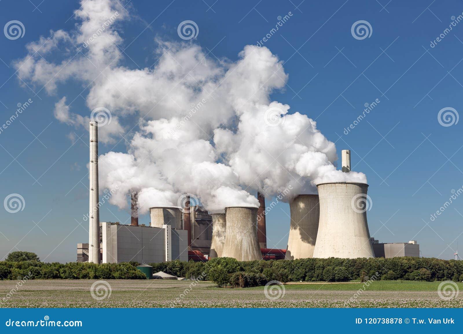 Coal-fired power plant near lignite mine Garzweiler in Germany