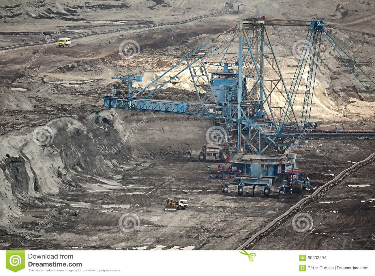 Coal Mine Stock Photo Image 60333394