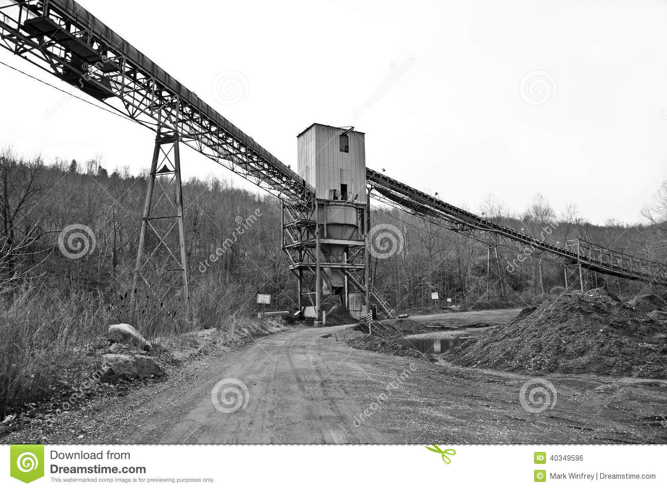 Coal Mining Tipple Stock Photo - Image: 40349596