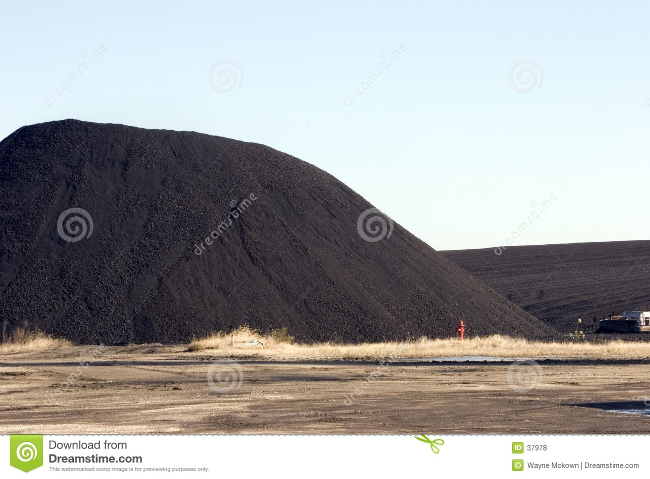 Coal pile for powerplant