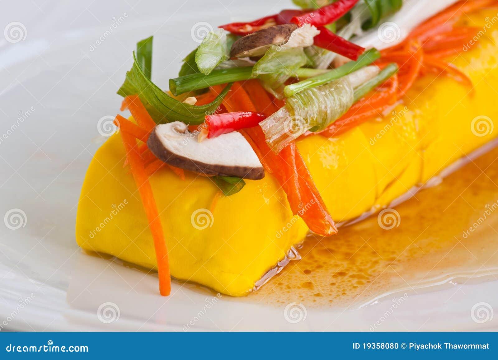 Coalhada de feijão macia do alimento do vegetariano (Tofu)