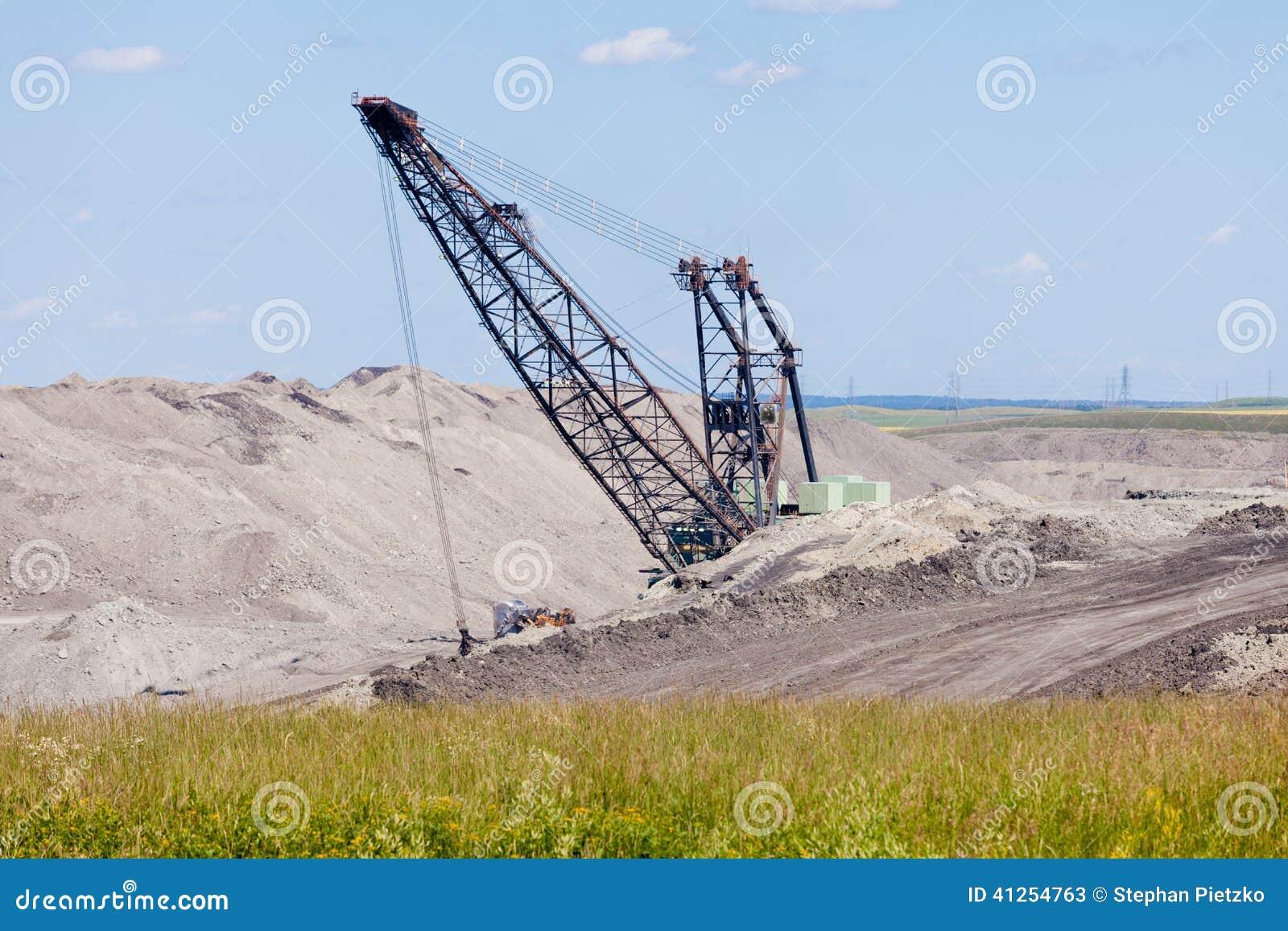 Coalmine ekskawatoru moonscape maszynowy tailing