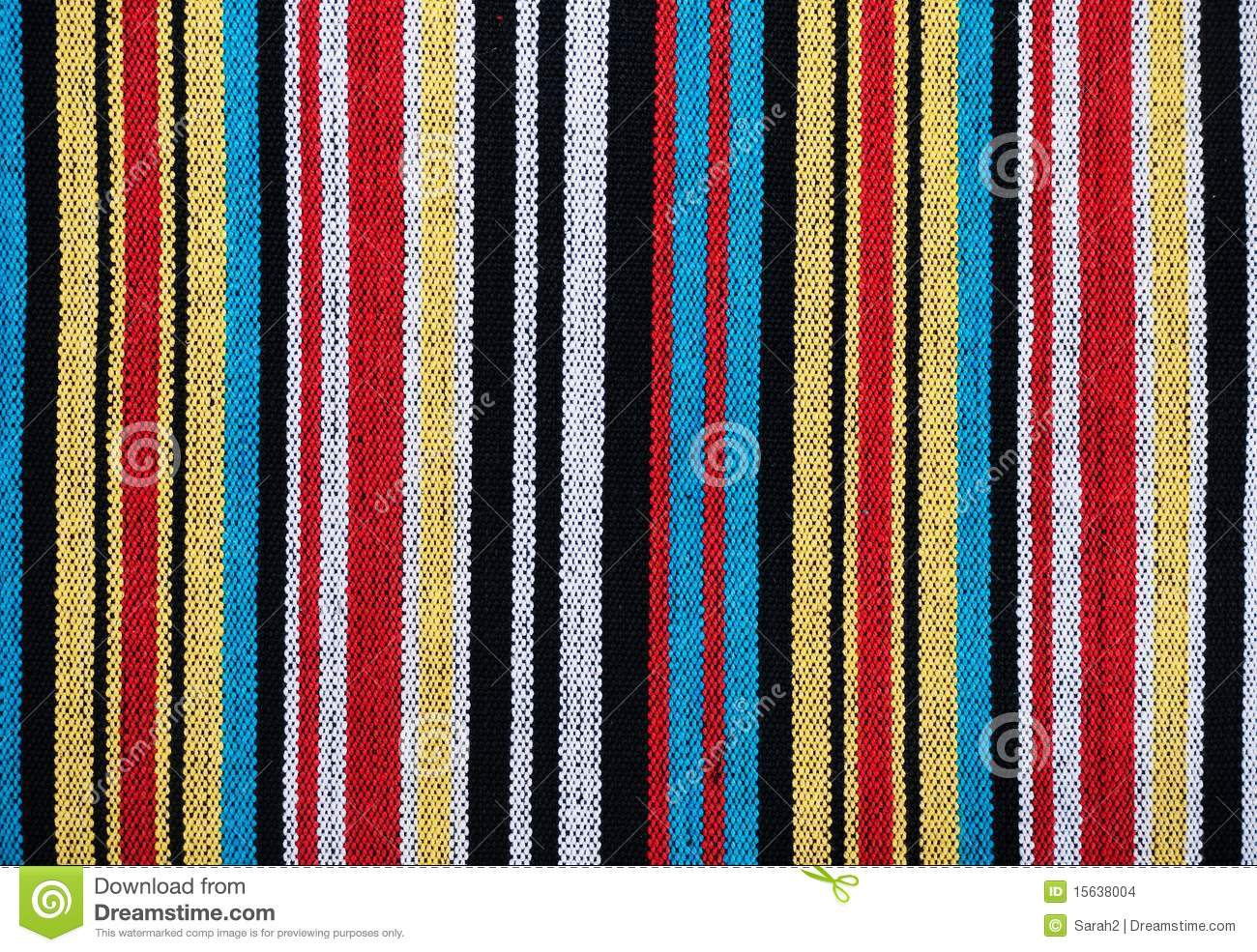 Stripey Material Or Fabric Stock Photography