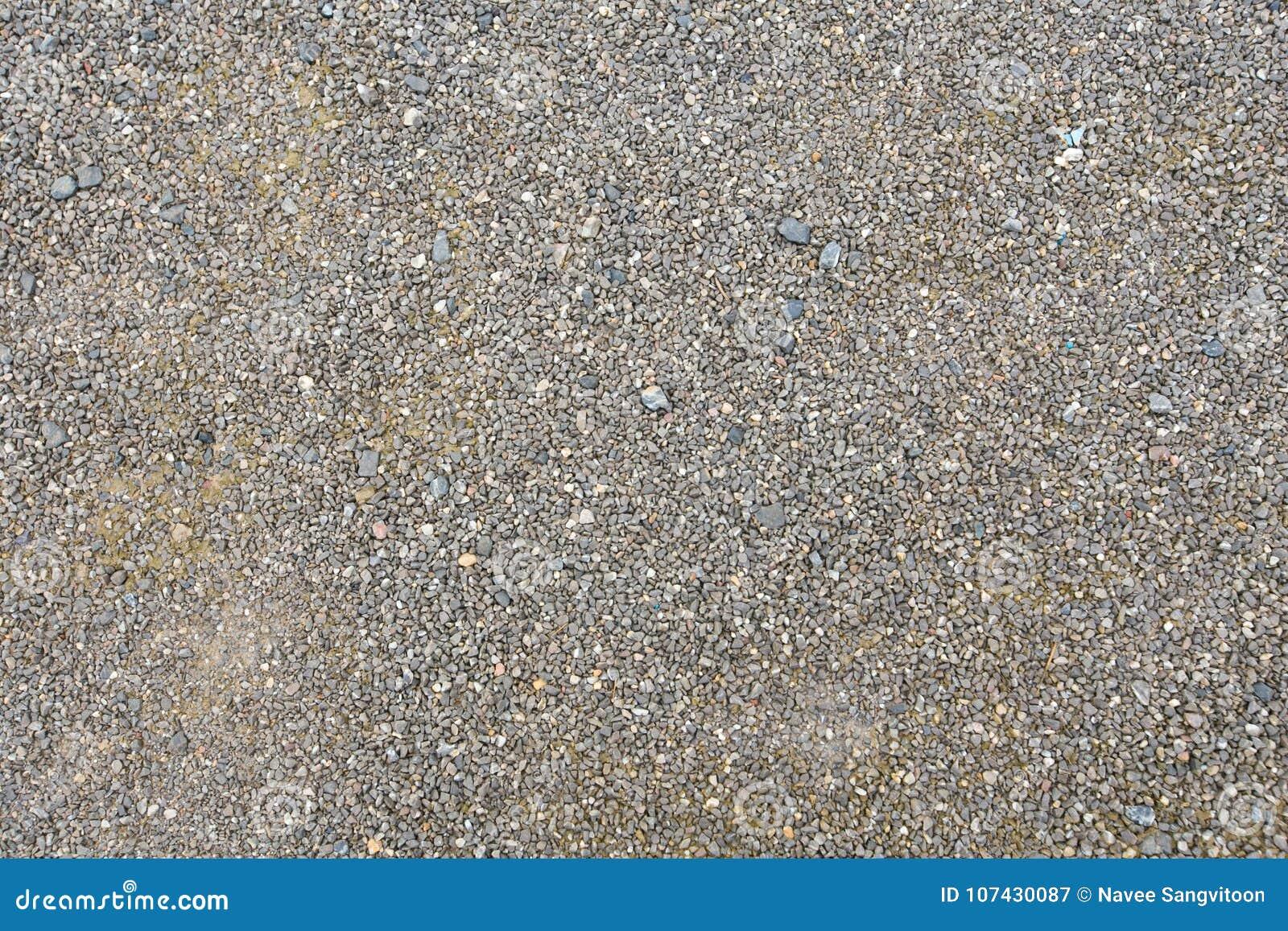 Coarse gravel, black and gray