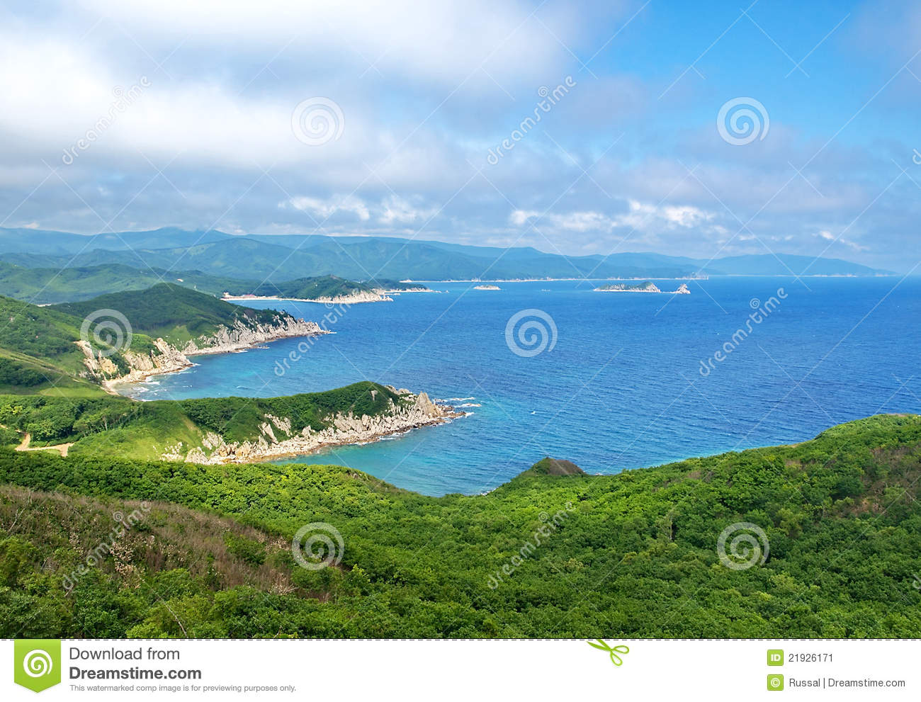 Coast of the Japan sea, Primorsky krai.