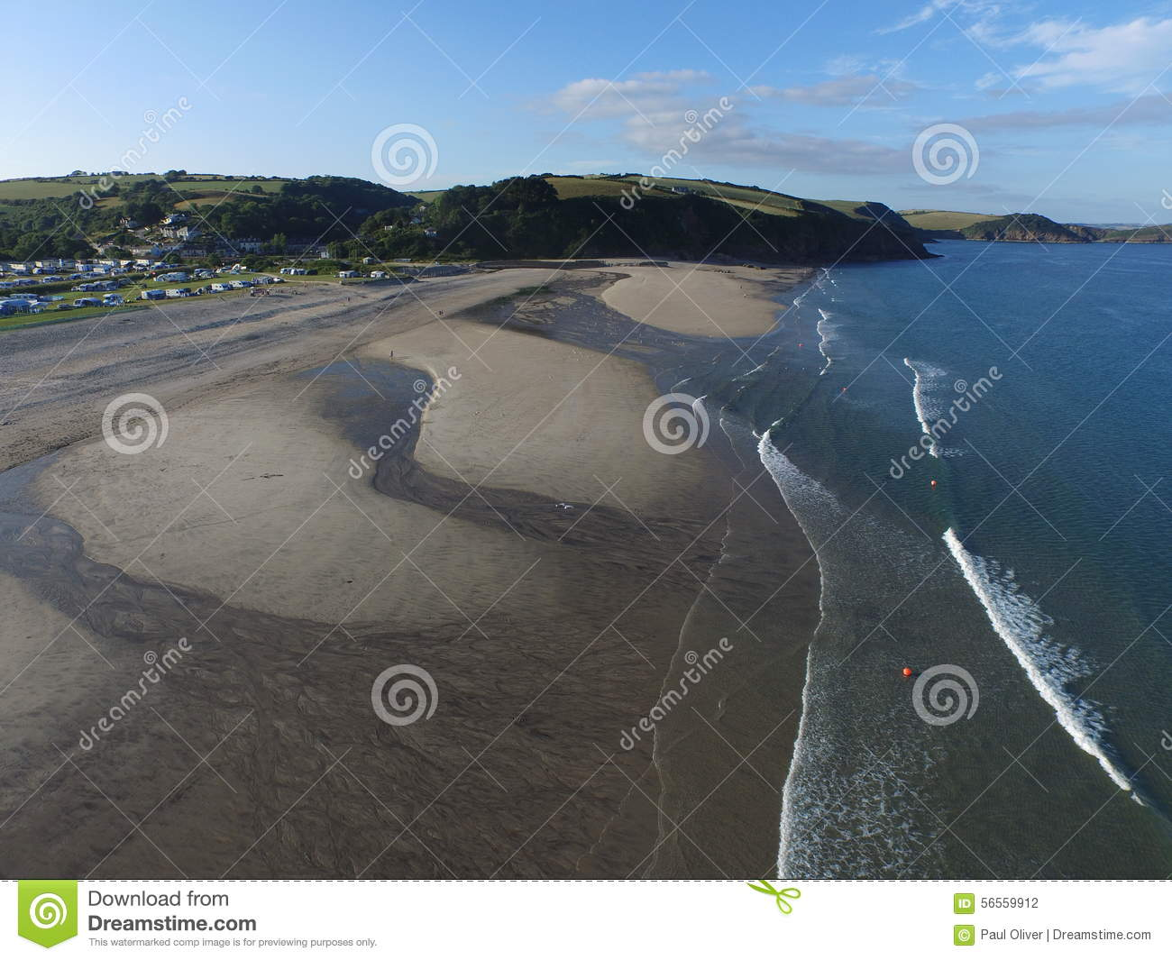 The coast line of Pentewan Sands