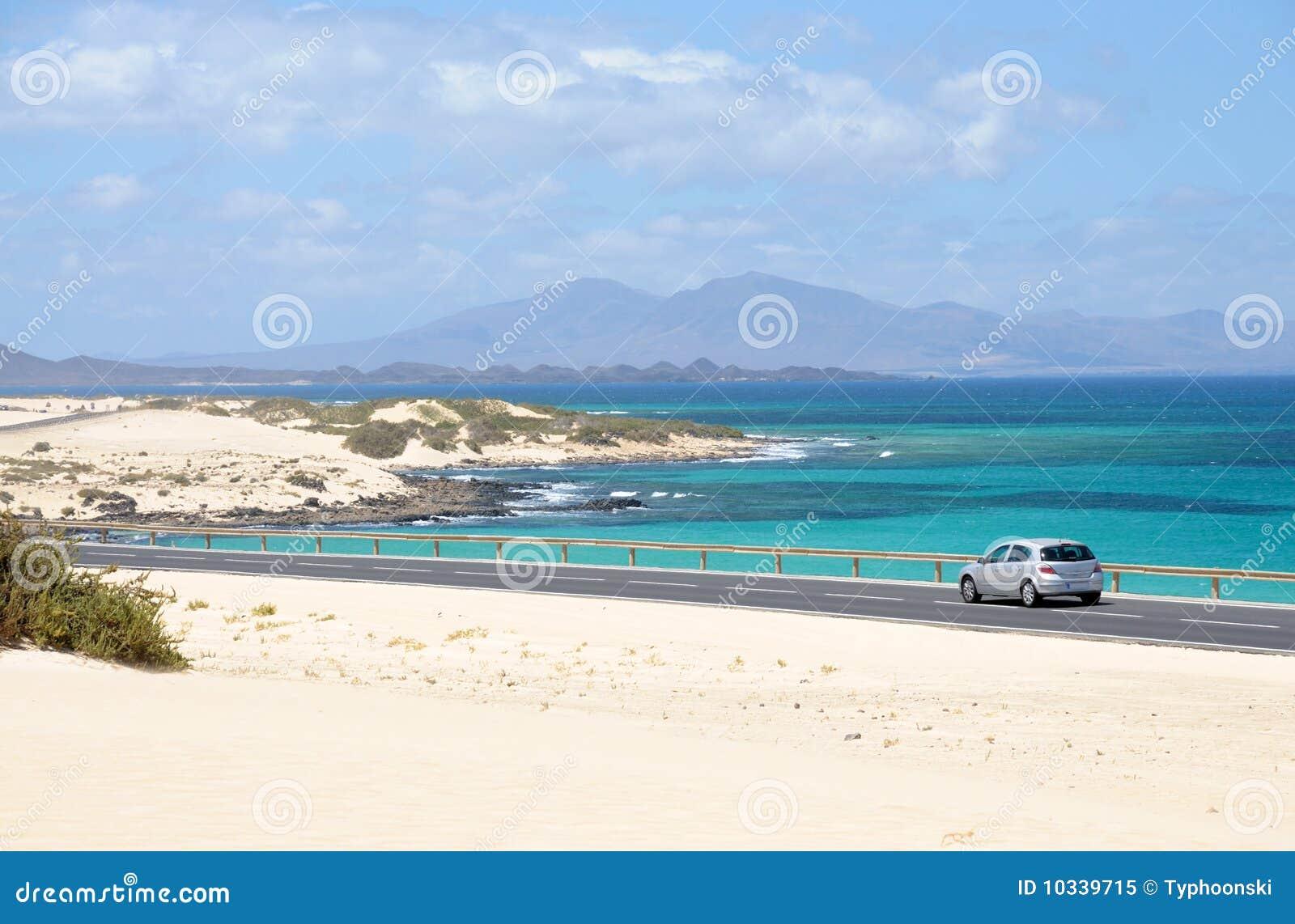 Coast near Corralejo, Fuerteventura, Spain