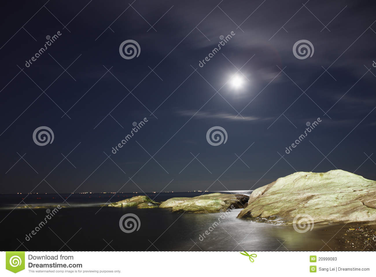 Download Coast night scenes stock image. Image of light, background - 20999083