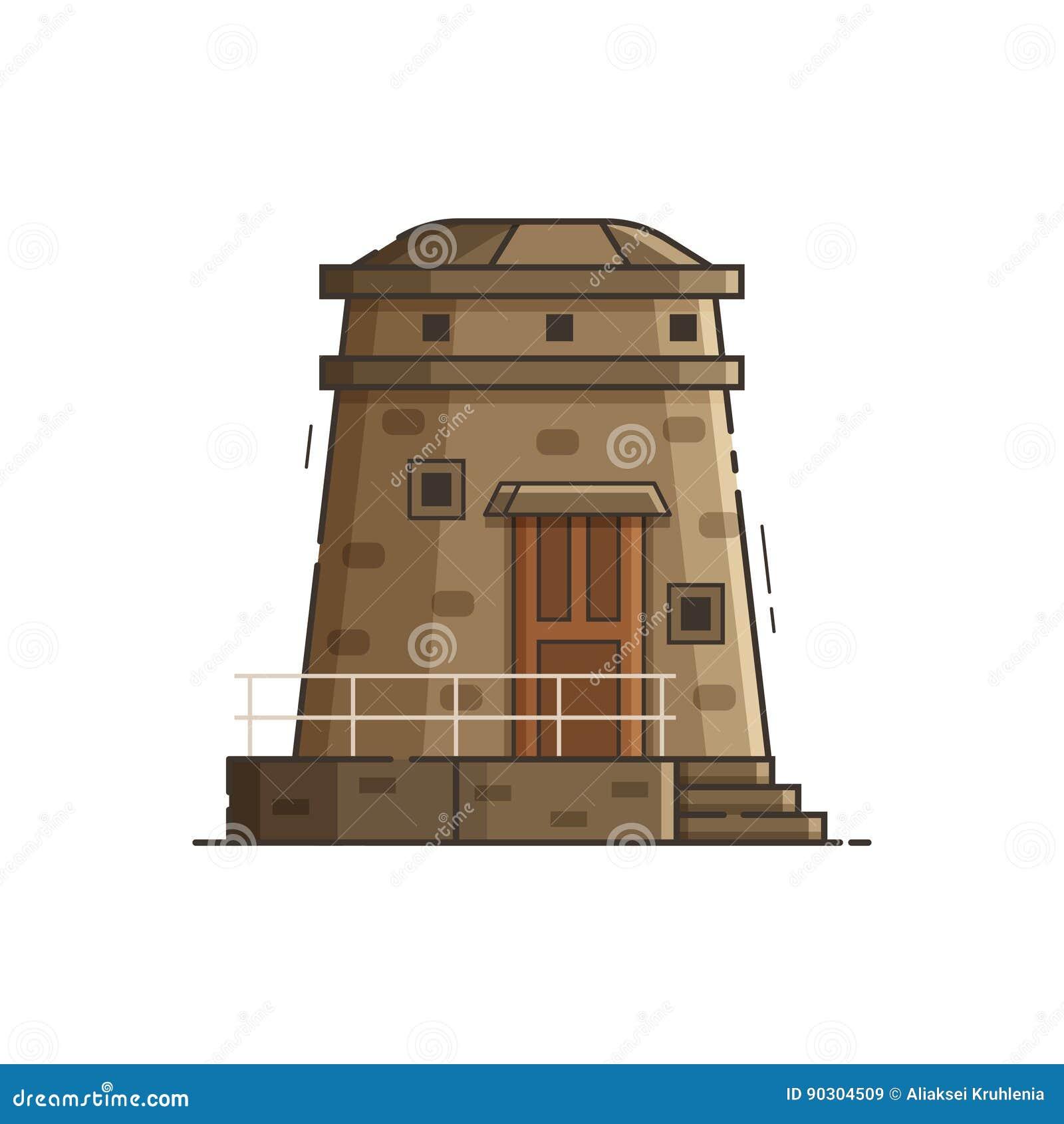 Coast observation tower vector illustration stock vector for Observation tower house plans