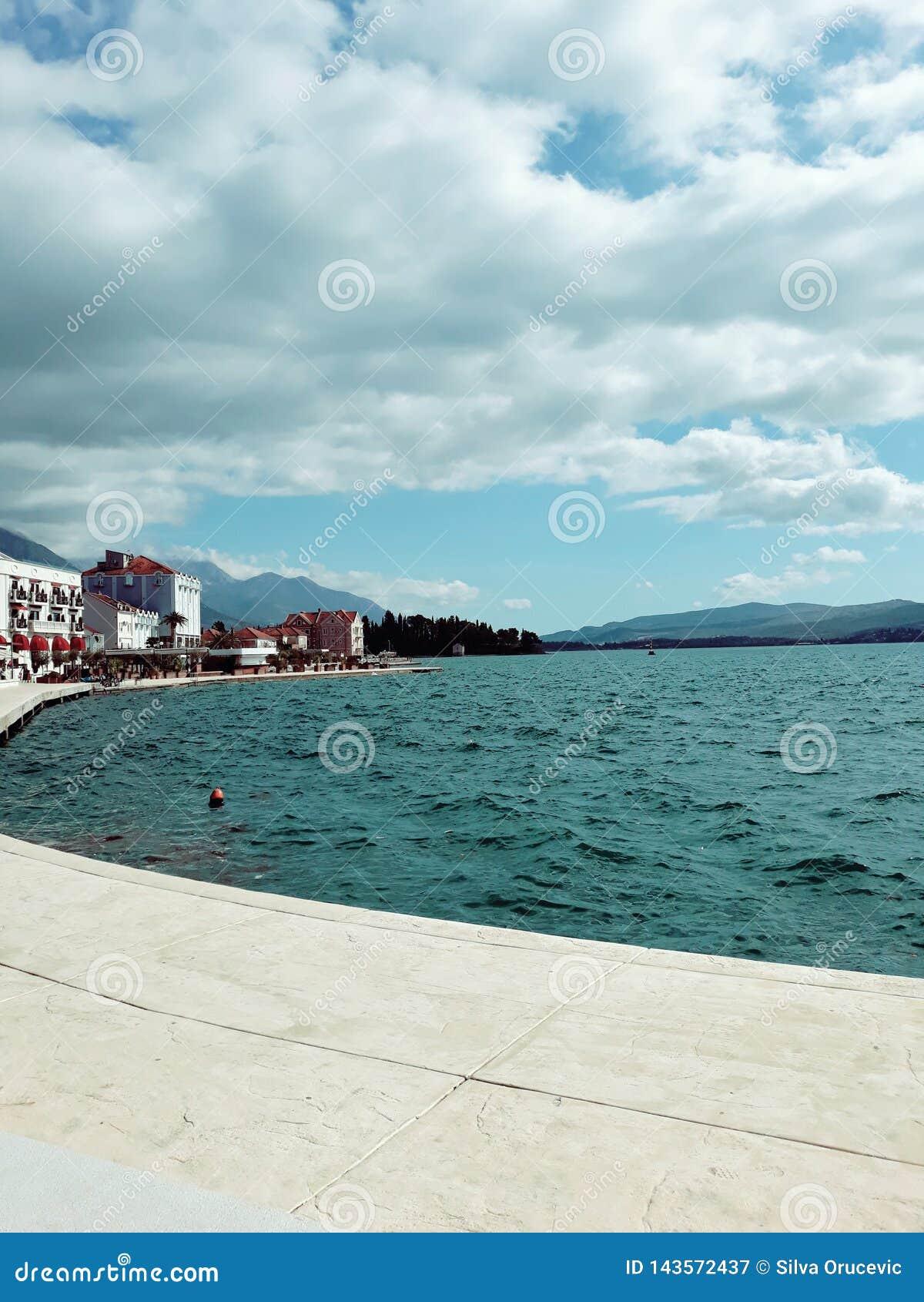 Coast of Tivat, Montenegro