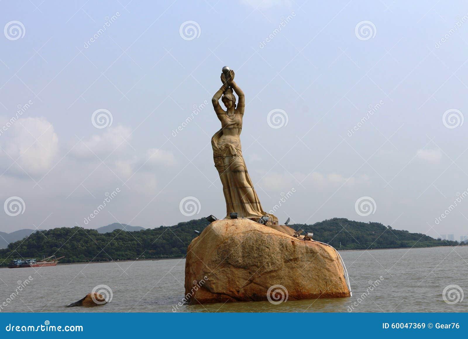 Coast of xianglu bayfisher girl statue stock image image 60047369 royalty free stock photo buycottarizona