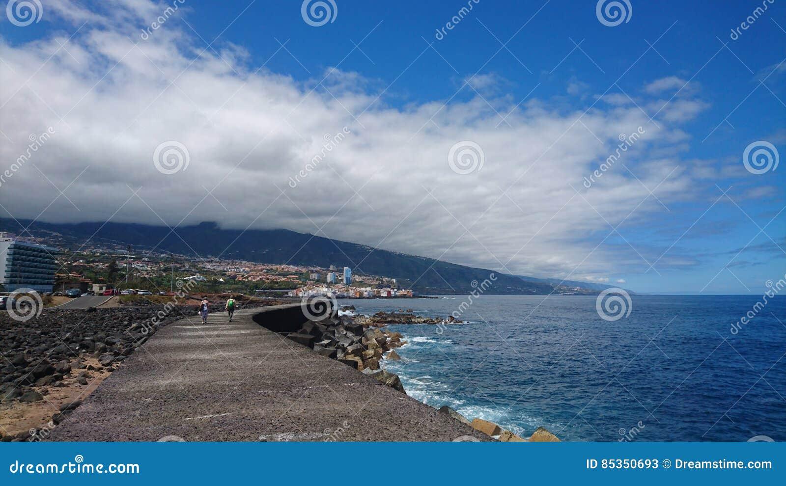 Coastal boardwalk tenerife