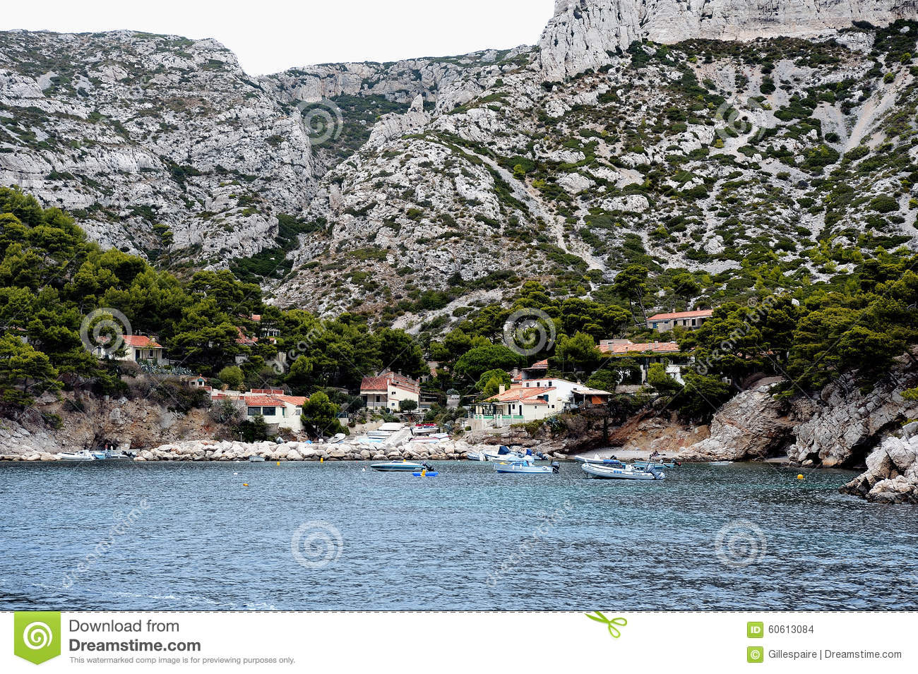 coastal landscape between cassis and marseille stock photo image 60613084. Black Bedroom Furniture Sets. Home Design Ideas