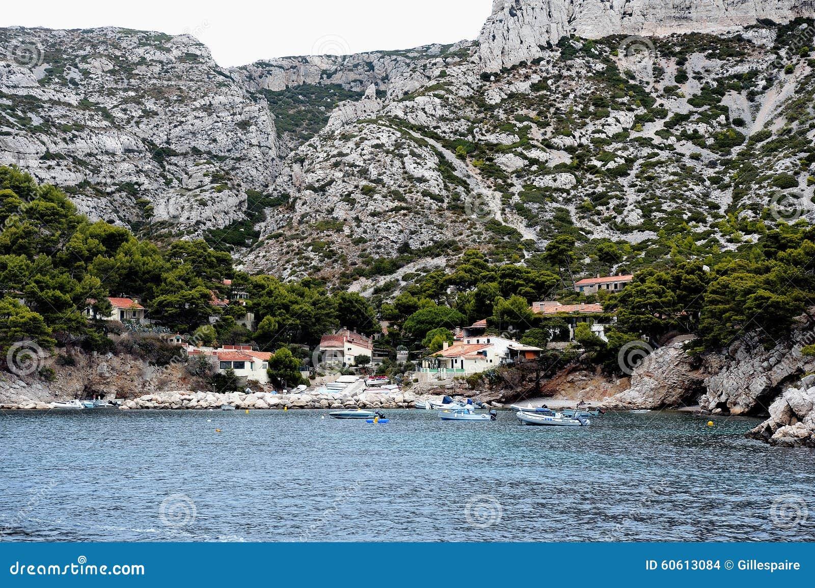 coastal landscape between cassis and marseille stock photo image 60613084. Black Bedroom Furniture Sets. Home Design Ideas