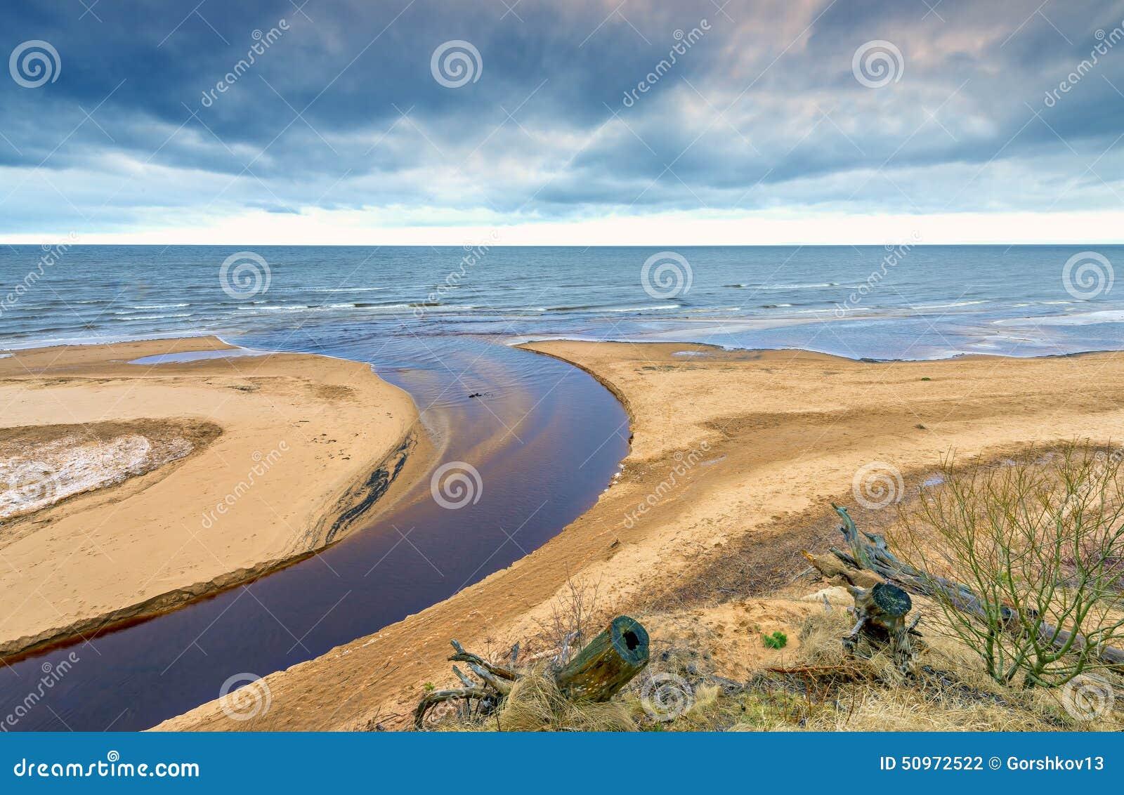 river flows into ocean