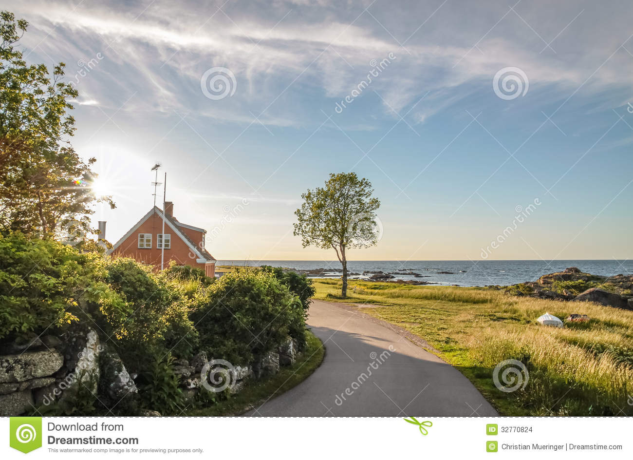 Coastal road on Bornholm