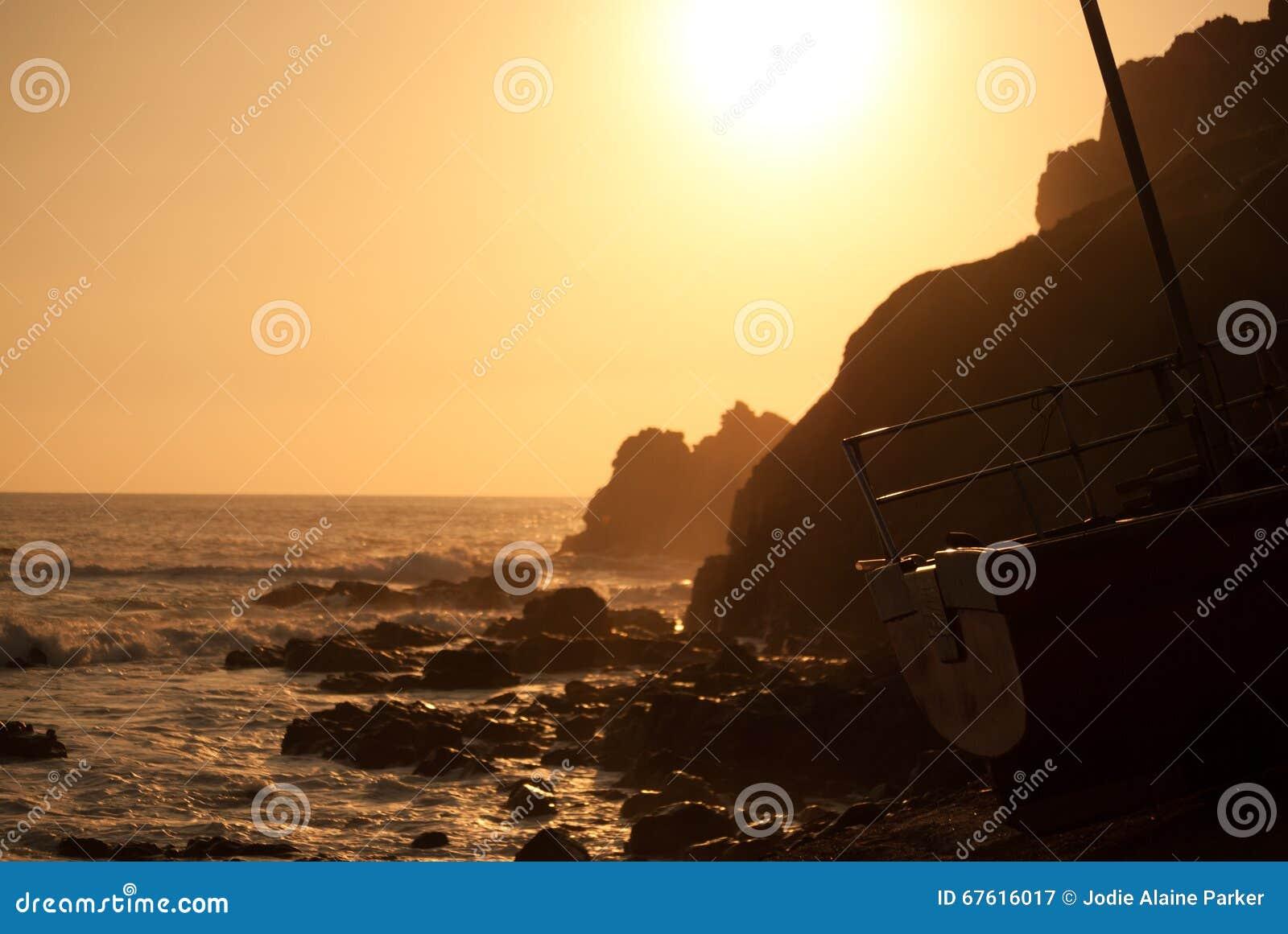 sunset sailing boats rocks - photo #17