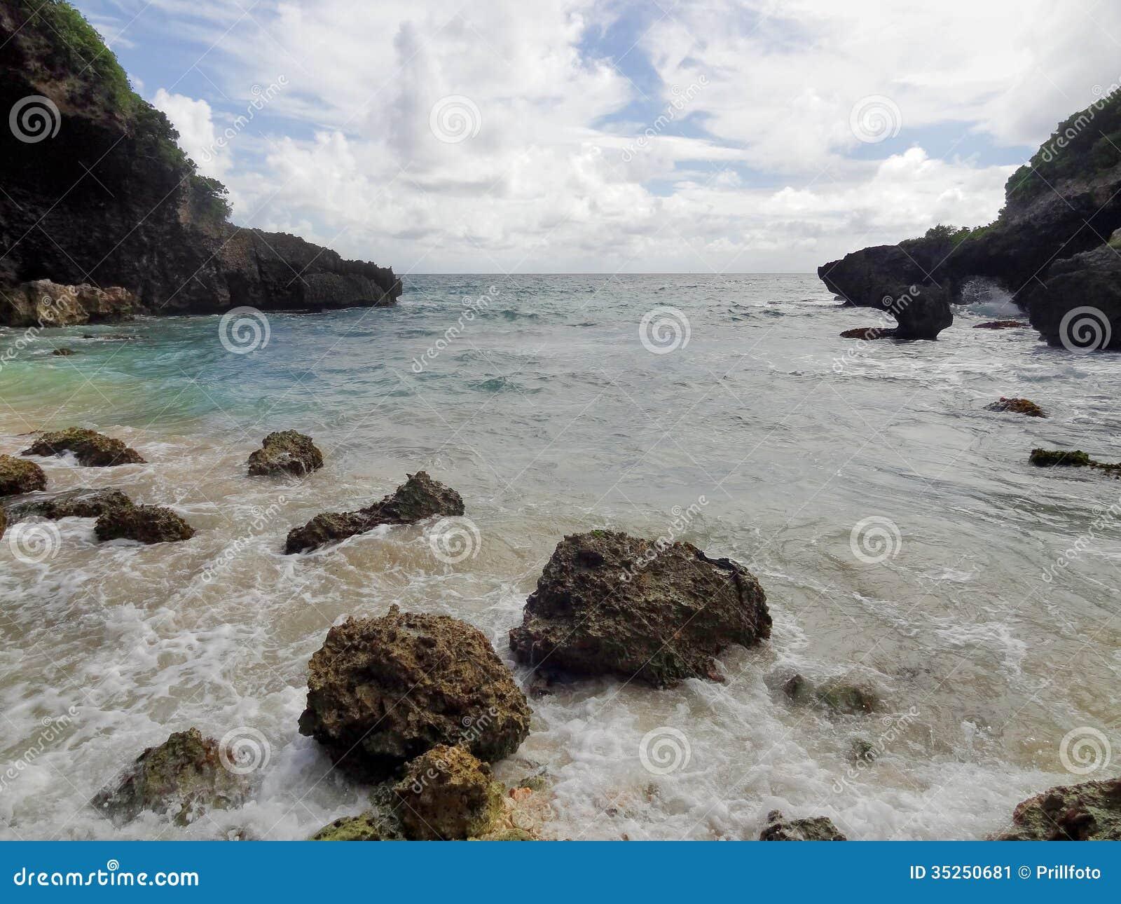 Coastal Scenery At Guadeloupe Stock Image - Image: 35250681