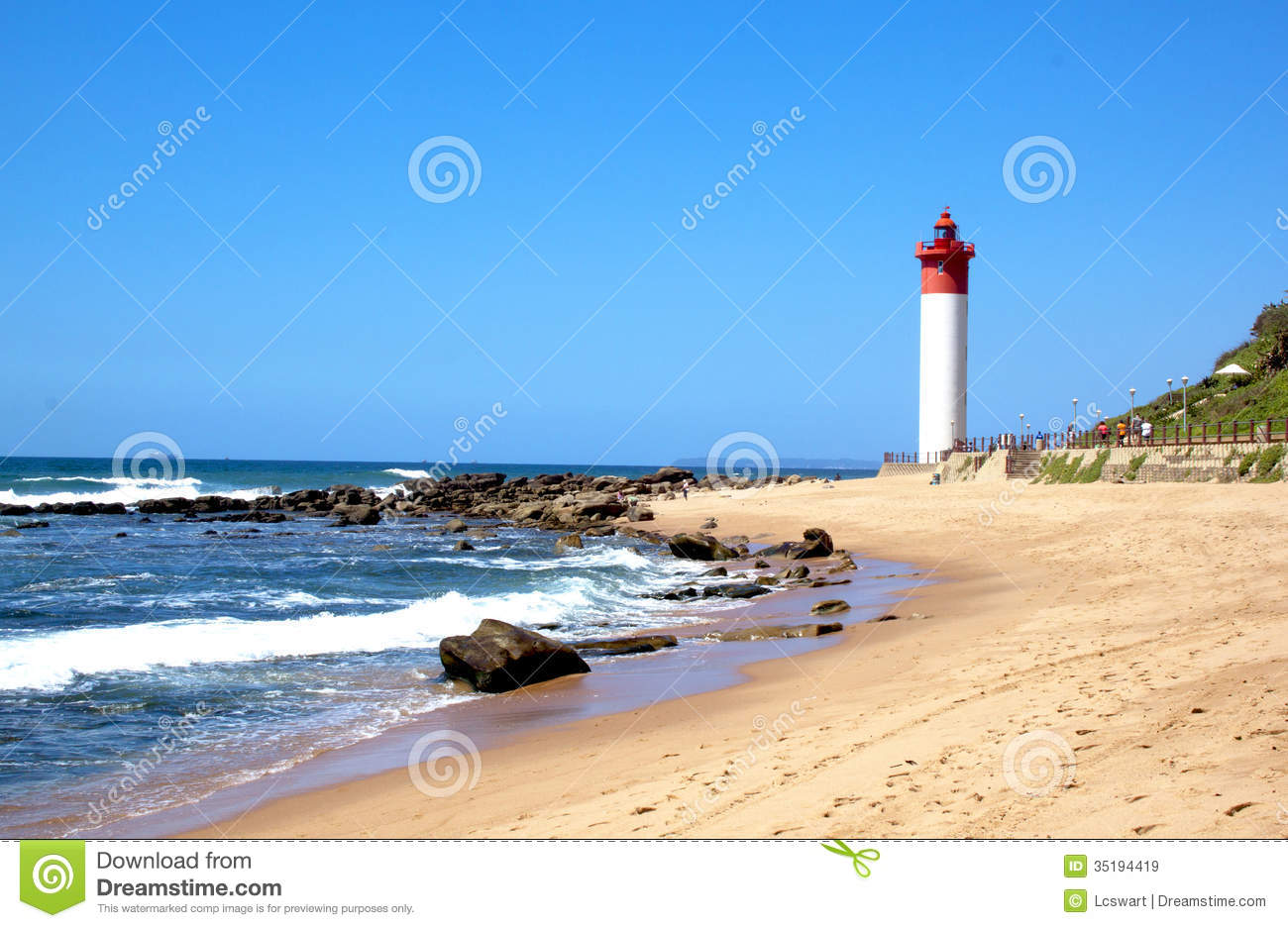 coastal seascape with red and white lighthouse royalty beach sand background clipart beach sand background clipart