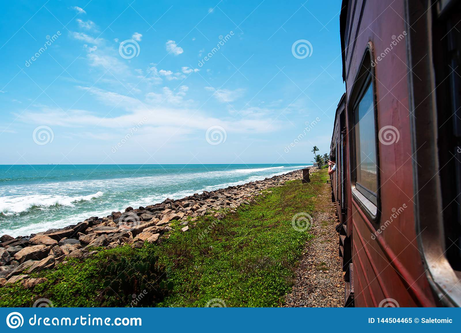 Coastal train in Sri Lanka