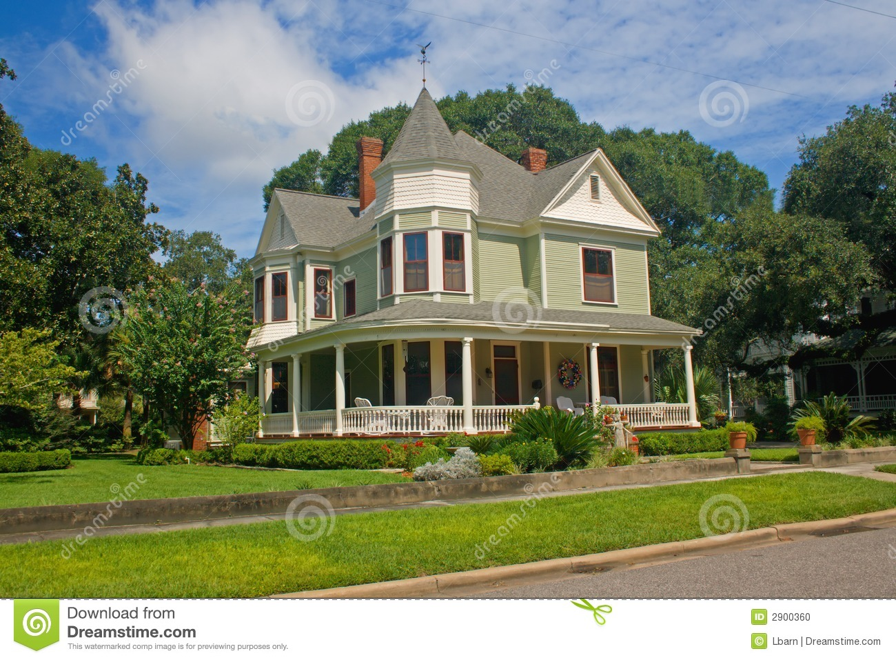 Coastal Victorian Home 3 Stock Photo Image 2900360