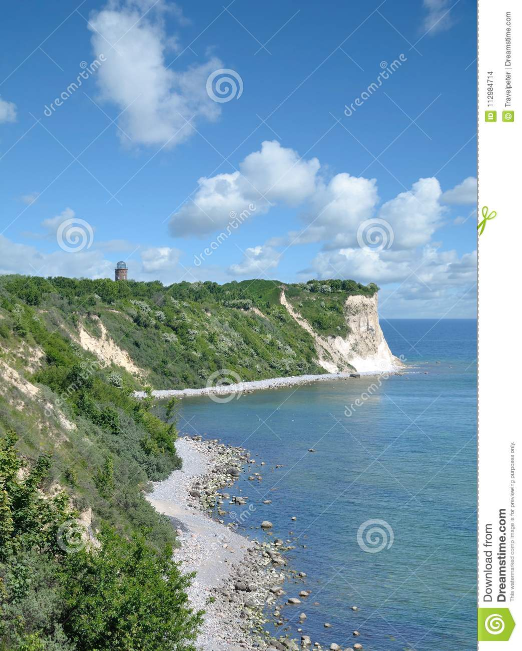 Coastline at Kap Arkona,Ruegen,baltic Sea,Germany