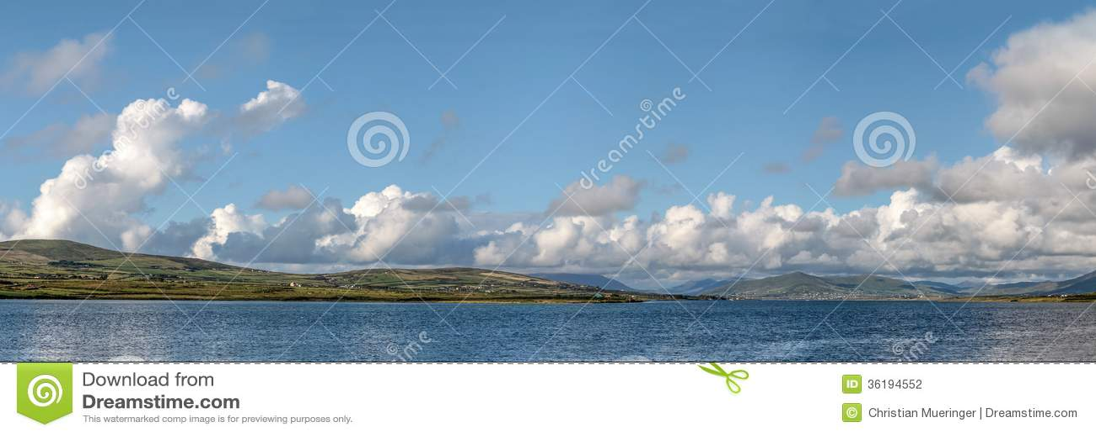 Coastline panorama near Portmagee