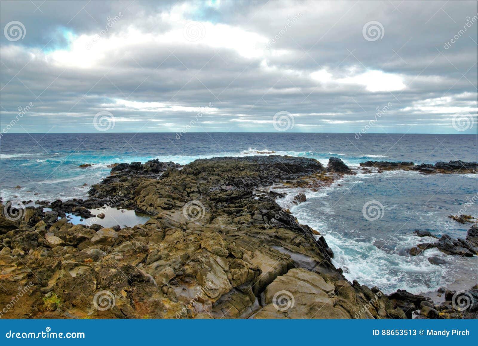 Coasts around Easter Island