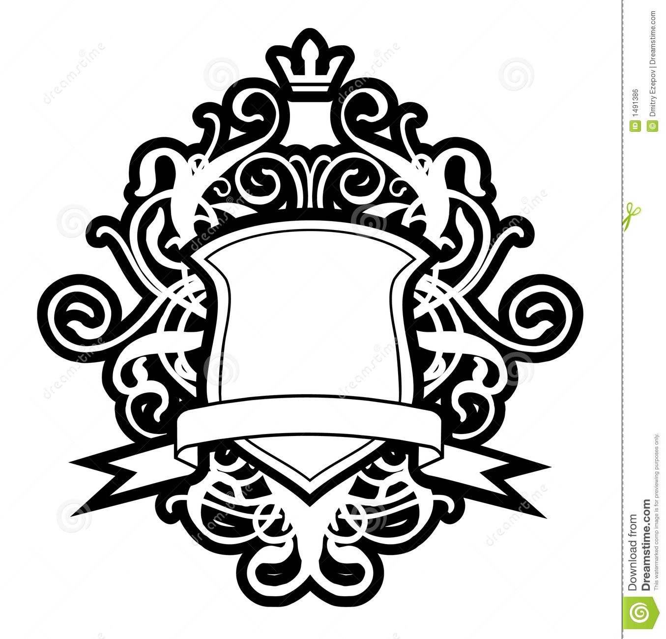 Coat of arms stock vector. Illustration of board, line ...