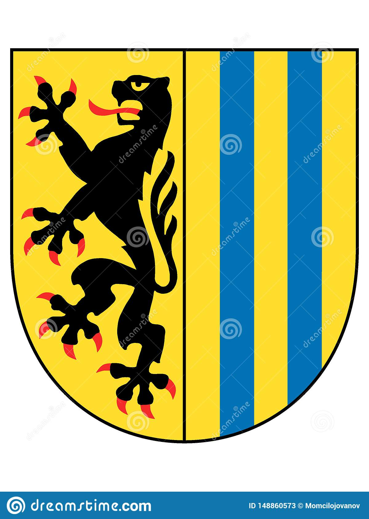 Coat Of Arms Of The German City Of Leipzig Stock Vector Illustration Of Munich Arms 148860573