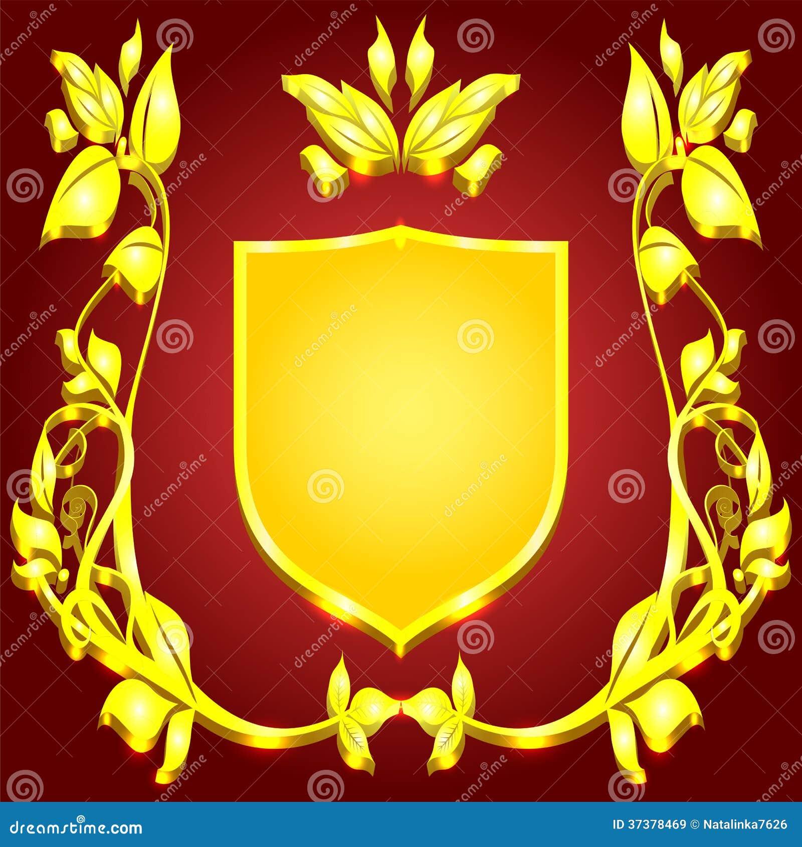 ... gold monogram flor...