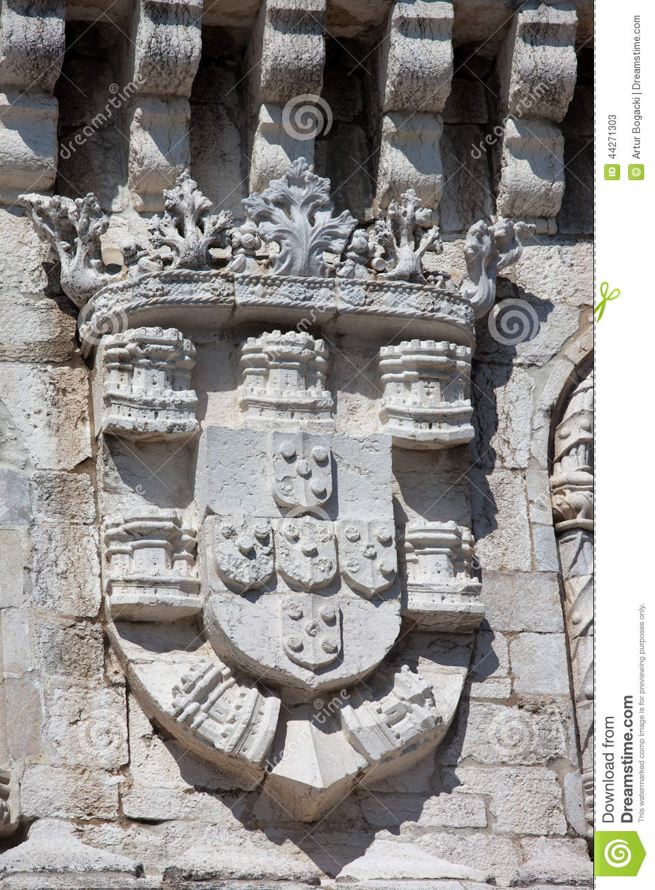 Coat of Arms of King Manuel I at the Belem Tower